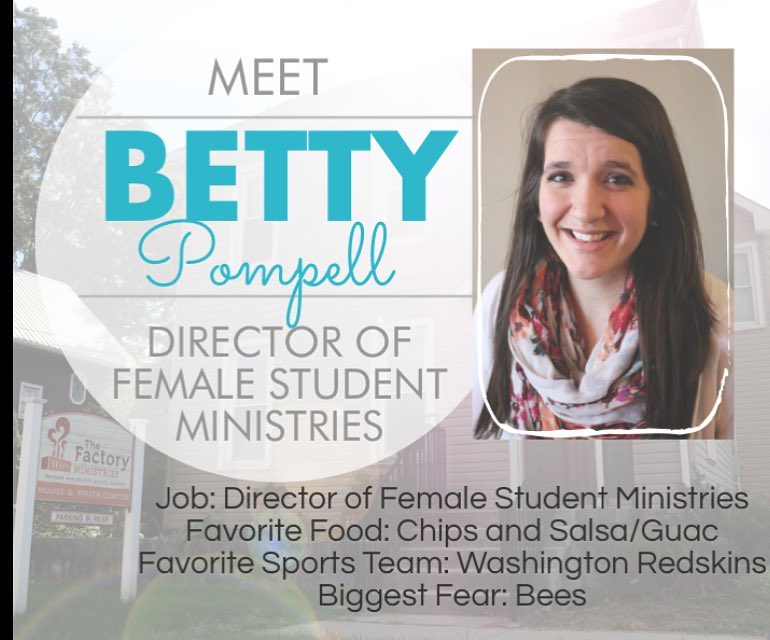 Meet @bettycatherine , our new Director of Female Student Ministries. #welcometotheteam