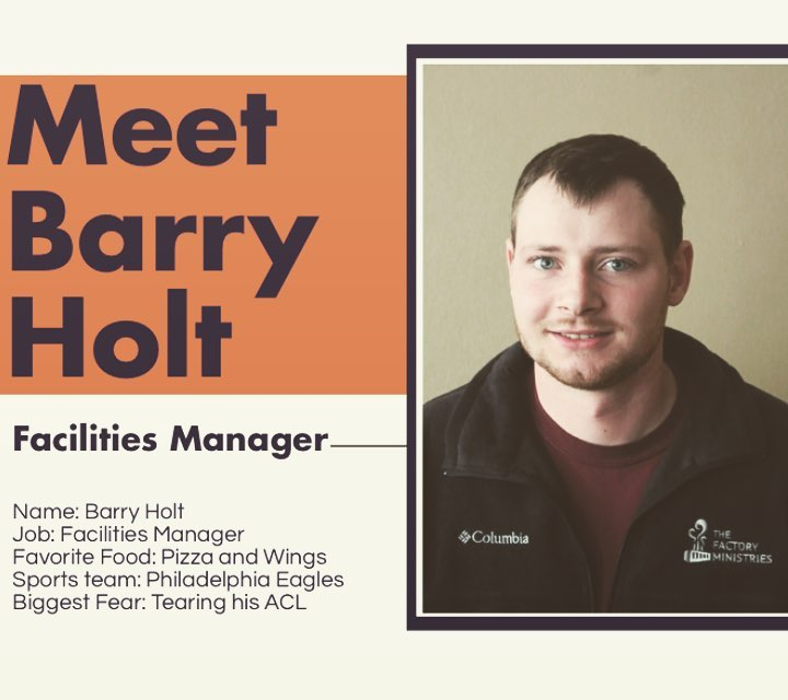 Welcome to the team Barry!