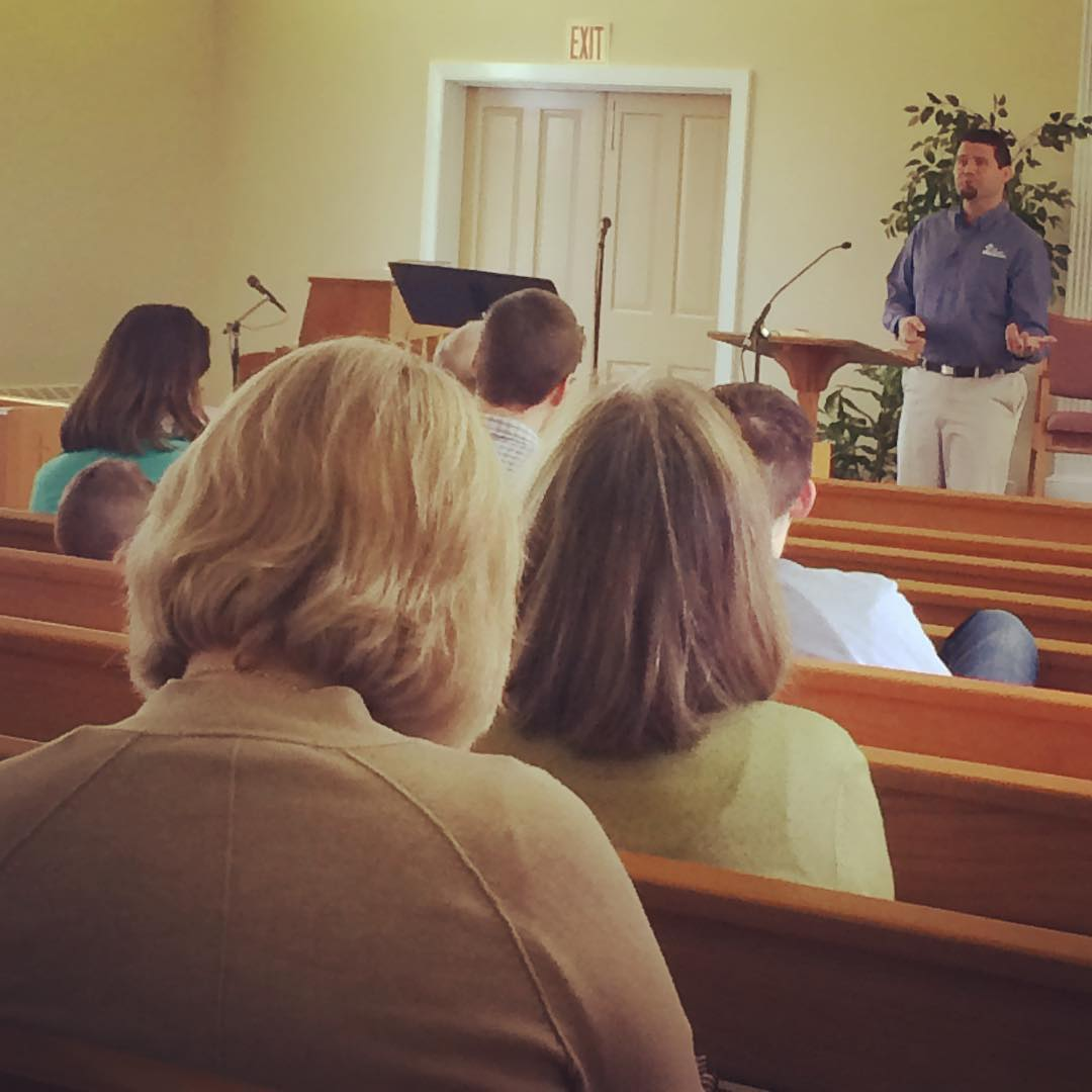 Excited to have our Director of Community Relations, @derekryan14 , speaking at Hershey Mennonite Church this morning.
